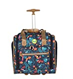 Lily Bloom Designer 15 Inch Carry On - Weekender Overnight Business Travel Luggage - Lightweight 2- Spinner Wheels Suitcase - Under Seat Rolling Bag for Women (Sloth to Me)