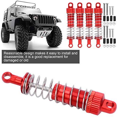 RC Federdämpfer, 4 Stück/Set Aluminiumlegierung RC Stoßdämpfer RC Zubehör Kompatibel für MN 1/12 D90 RC Car(rot)