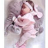 può muoversi,Anti-soffocamento,cuscino neonato,Elefante alto 60 cm per far dormire i bambini. Cuscino schienale imbottito regalo per bambini