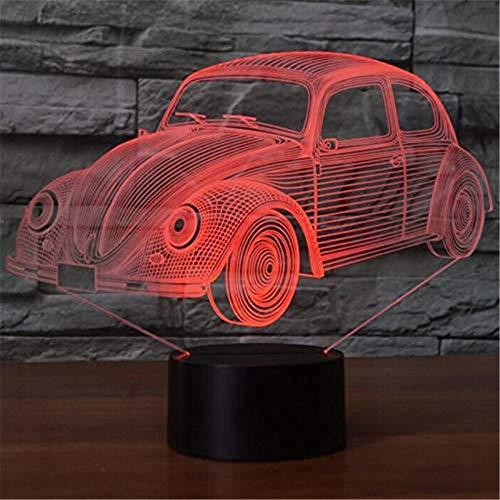HYDYI 3D Nachtlicht 7 Farben Visuelle Käfer Car Modeling Lampe 3D LED Nachtlicht Kinder Geschenke Touch-Schalter USB Tisch Lampara Lampe Baby Schlaf Beleuchtung
