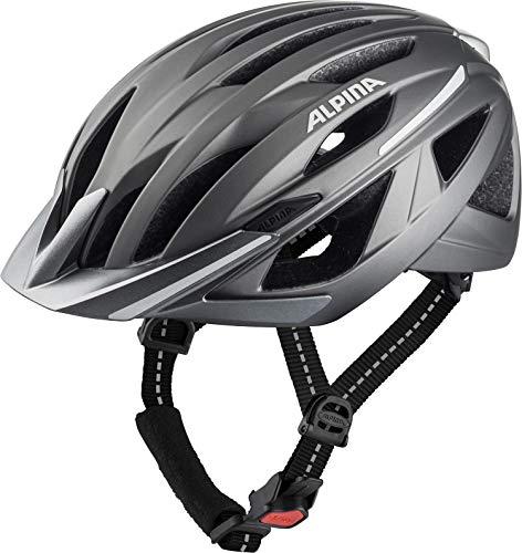 Alpina Unisex jeugd HAGA fietshelm, donkerzilver mat, 58-63 cm