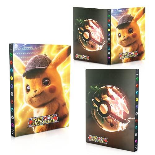 Classeur pour Pokemon,Porte Carte Pokemon, Livre Carte Pokemon, Pokemon Cartes Album Pokémon Commerce Cartes GX EX Albums de Cartes, 24 Pages Peut Contenir Jusqu'à 432 Cartes (Détective Pikachu)