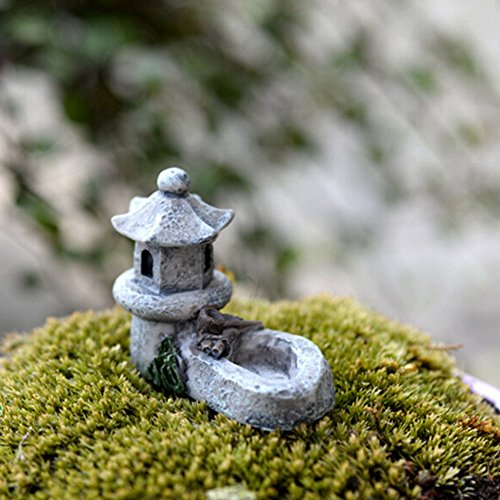 ROKFSCL Décor Jardin Mini Asiatique Pagode Lanterne