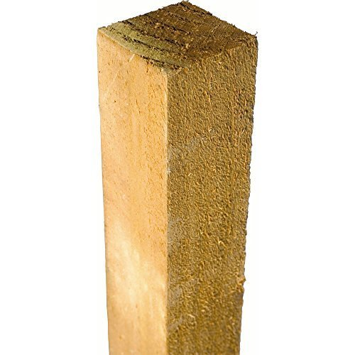 Postes de madera tratada 75mm x 75mm x 1,2 metros (1.200 mm)