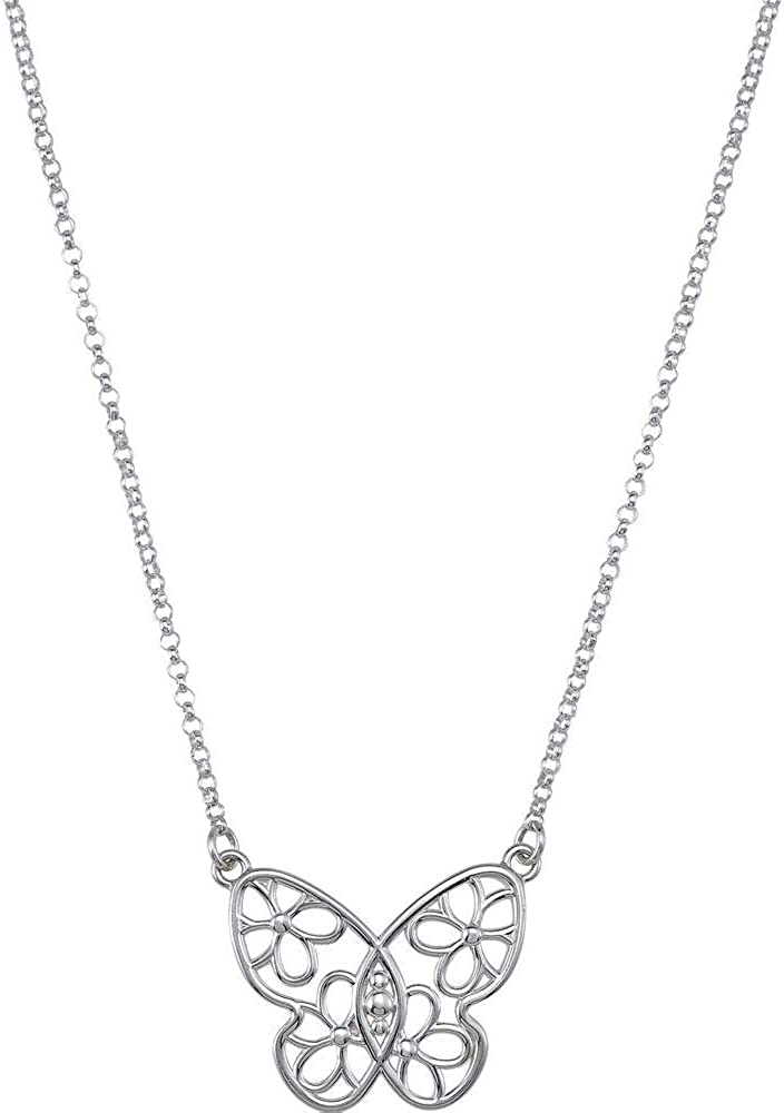 Butterfly and Max 54% OFF Floral-Inspired Free Shipping Cheap Bargain Gift Flower Pendant Chain Charm Necklac