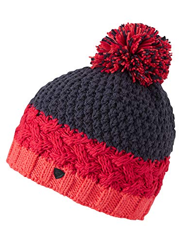 Ziener Damen ISSOGI hat Bommel-mütze/Warm, Gestrickt, Fiery red, Usex