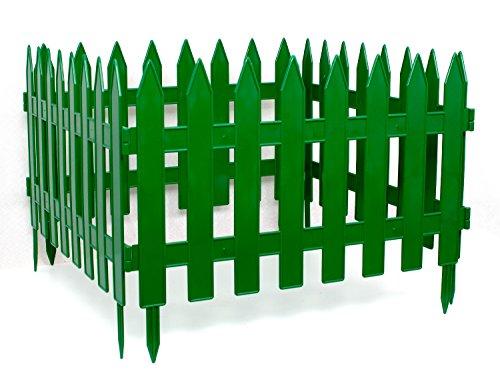 Clôture décorative de jardin Vert Longueur : 3,20 m Hauteur : 27 cm