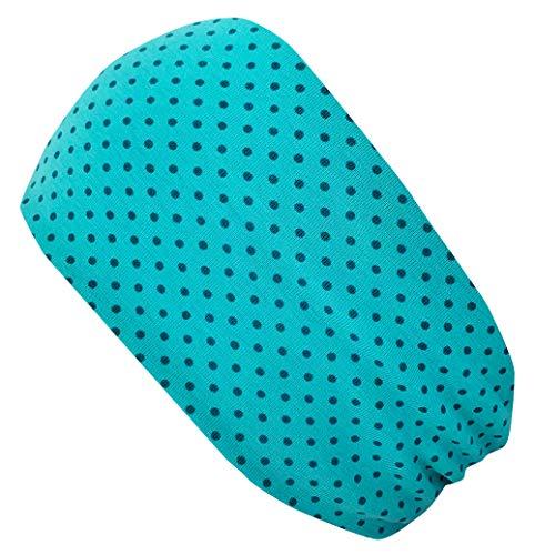 Wollhuhn ÖKO Damen/Mädchen Süßes elastisches Pünktchen TWIST Haarband/Stirnband Gedreht Türkis/Petrol (aus Öko-Stoffen, bio) 20190018