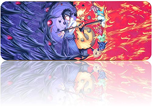 Naruto Mousepad Large Extended Gaming Mouse Pad, Non-Slip Water-Resistant Rubber Base Mouse Mat(31.5'x11.8')