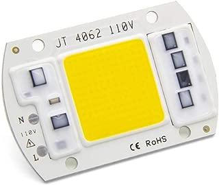 30W COB LED Chip, Full Spectrum LED Grow Light Chip for Plant Grow Lights DIY for Indoor Greenhouse Plants Vegetables Seedlings Bloom Plant Light Bulb (380nm-780nm / AC 110V / 3000K) Integrated Smart