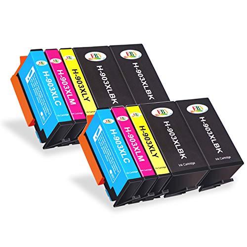 EBY - Cartuccia di ricambio compatibile HP 903XL 903 per stampanti a getto d'inchiostro HP Officejet Pro 6950 6960 6970 All-in-One (4 nero, 2 ciano, 2 magenta, 2 giallo)