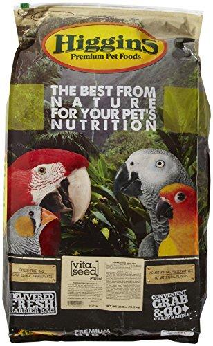 Higgins 466145 Vita Seed Parrot Food For Birds, 25-Pound
