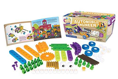 Kids First Automobile Engineer Kit   STEM   32 Page Full-Color Illustrated Storybook   Ages 3+   Preschoolers and kindergartners   Develop Fine Motor Skills   Parents Choice Gold Award