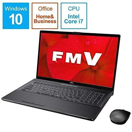 富士通 FMV LIFEBOOK NH90/D2(ブライトブラック)- 17.3インチ ノートパソコン[Core i7 / メモリ 8GB / SSD 256GB+HDD 1TB / Microsoft Office 2019] FMVN90D2B