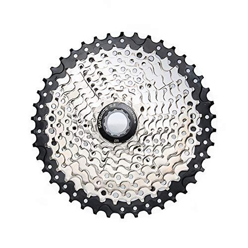 CLOUDH Bicicleta de Montaña 10 Speed Cassette, 11-42T Bicicletas Volante, Piezas Modificada Adecuadas para MTB, BMX, Shimano (M370, M390, M430, M2000, M4000, DEORE M530), SRAM (X5, X7)