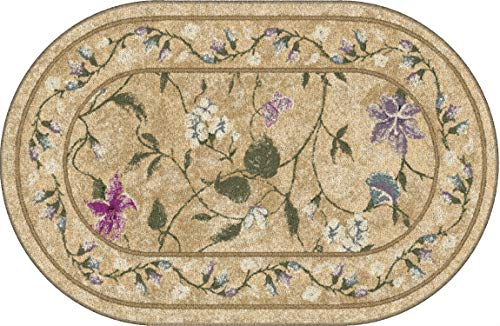 Brumlow Mills Butterfly Floral Area Rug for Kitchen, Dining, Living Room, Bedroom, Doorway Mat or Home Accent Carpet, 30' x 46', Topaz
