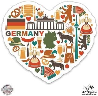 Germany Icon Heart - Vinyl Sticker Waterproof Decal