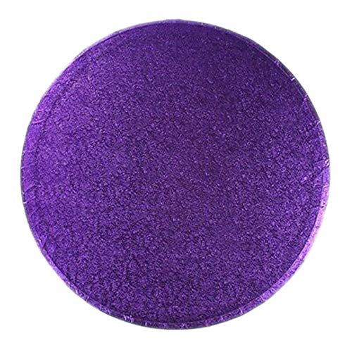 Vsorce4u 1 x 12' Purple Round Cake Board Circle Cardboard Cake Drum Cake Base Plate Board Turntable Cake Cheesecake Snack, 12mm thick