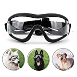 Namsan Dog Goggles - Large Breed Dog Sunglasses UV Prevent Clear Lens for Sensitive Dog Eyes Protection, Elastic Adjustable Straps
