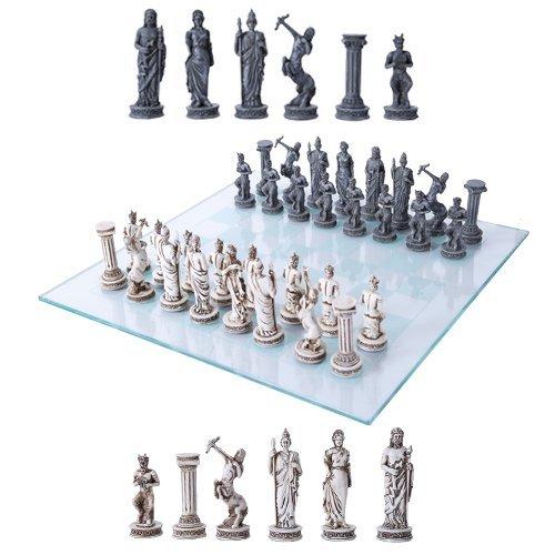 Ebros Greek Mythology Chess Set Olympian Gods and Demigods Zeus Hera Olympus Army Resin Chess Pieces...