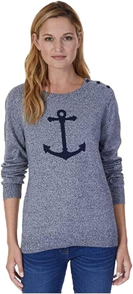 Nautica Women's Anchor Intarsia Pullover Sweater