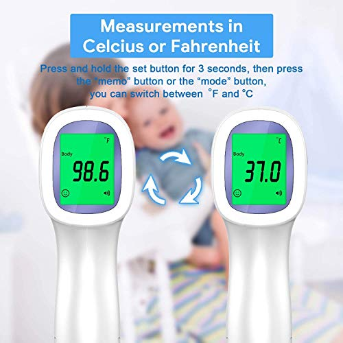 No-Touch Forehead Thermometer for Fever