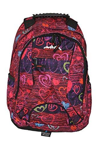 Ridge 53 Lorento Schoolbag/Backpack - Purple/Red