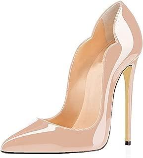 MIUINCYWomen's Sexy Point Toe High Heels,Patent Leather Pumps,Wedding Dress Shoes,Cute Evening Stilettos