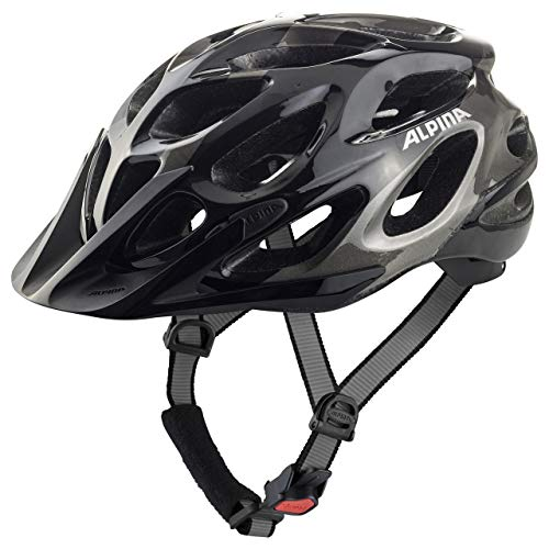 Alpina Sports Unisex – Erwachsene Thunder 2.0 Radhelm, Black-Anthracite, 59-64