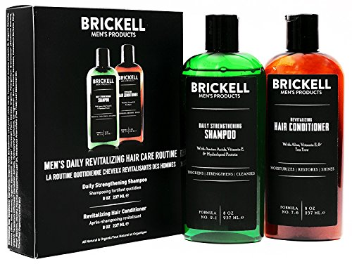 Brickell Men's Daily Revitalizing Hair Care Routine, Mint and Tea Tree Oil...