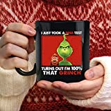 Vintage Grinch Dna Test Mug, Coffee Mug Gift Funny Coffee Mug, Ceramic 11 Oz Travl Coffee Tea Mugs Cups