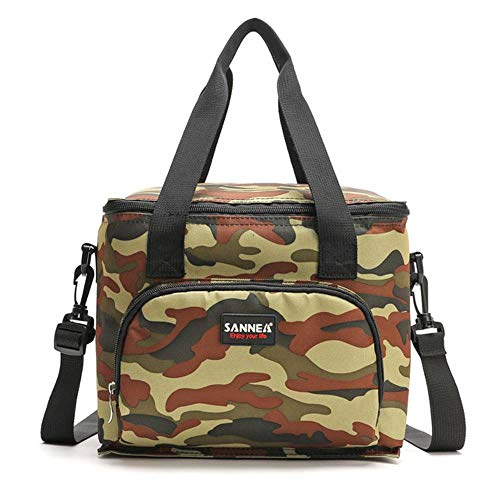 LASISZ Fashion Thermal Food Picnic Lunch Bags For Women Cooler Lunch Box Portable Multifunction Lunch Bag,Camouflage