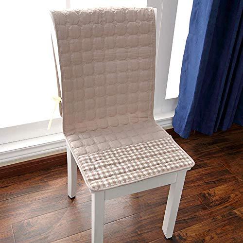 XHNXHN Juego de 4 cojines de algodón siamés para silla de comedor, no deslizantes, para decoración de interiores y exteriores, 40 x 130 cm, color caqui