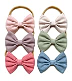 Baby Girl Headbands and Bows, Newborn Infant Toddler Nylon Hairbands Hair Accessories by Cherssy