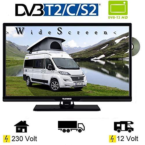 Telefunken T24X740 MOBIL LED TV DVD 24 Zoll DVB/S/S2/T2/C, USB, 12V 230 Volt