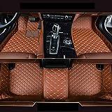 8X-SPEED Auto-Fußmatten Leder Bodenmatte für B MW 3 Series E90 E91 E92 E93 F30 F31 F35 318i 320i 325i 328i 330i 335i 320d 325d 2008-2012 4-Türen,Volldeckung Anti Rutsch Anti-Kratz Braun Automatten