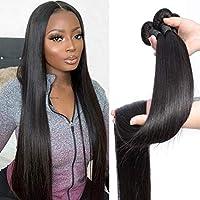 30 32 34 36 38 40インチインドの髪、ストレートヘアバンドル100%自然な人間の髪1 3 4束ダブルウェフ厚いレミーヘア 26 28 30
