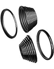 Neewer Camera lens filter ring adapter kit Step-Up+Down Set