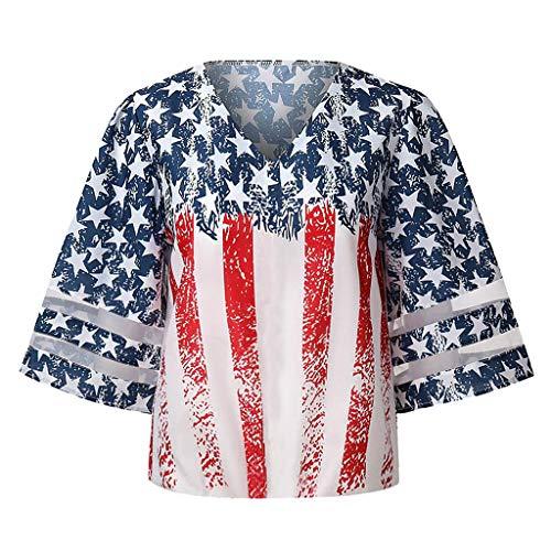 OPAKY Blusas Camisas Camisas Camisas Camisas Sin Mangas Alargadas con Cuello en V Botones para Mujer, rojo, XL