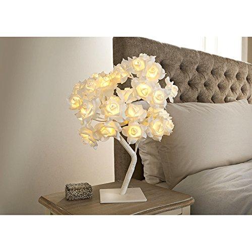 Hermosa lámpara de árbol de rosas de 32 LED