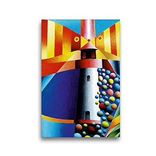 Calvendo Lienzo prémium de 30 x 45 cm de Alto, diseño de Faro List West, Sylt, Imagen HD sobre Bastidor, premontado en Fieltro, impresión en Lienzo de Gerhard Kraus Arte