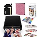 Polaroid Zip Wireless Mobile Photo Mini Printer Compatible w/iOS & Android, NFC & Bluetooth Devices with Bundle Accessories