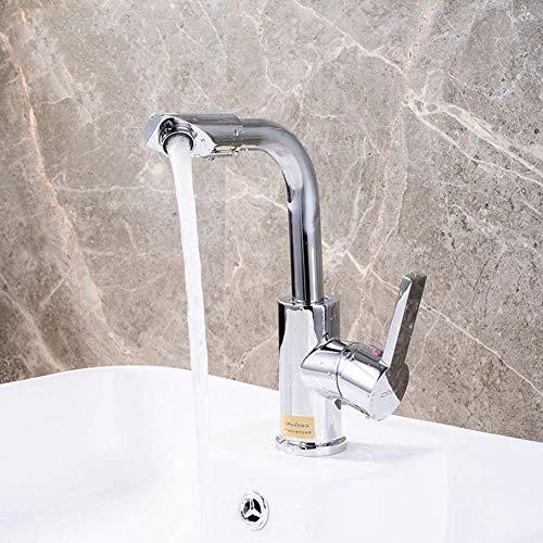 Beakjiful badkamer wastafel mixer tik zeven-woord roterende trekkraan warm en koud badkamer wastafel mixer tik bekken dubbele tik modus schakelaar