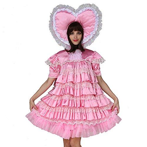 GOceBaby Erwachsene Baby Sissi Mädchen Dienstmädchen Satén Abschließbar Kleid Uniform Kostüm (3XL)