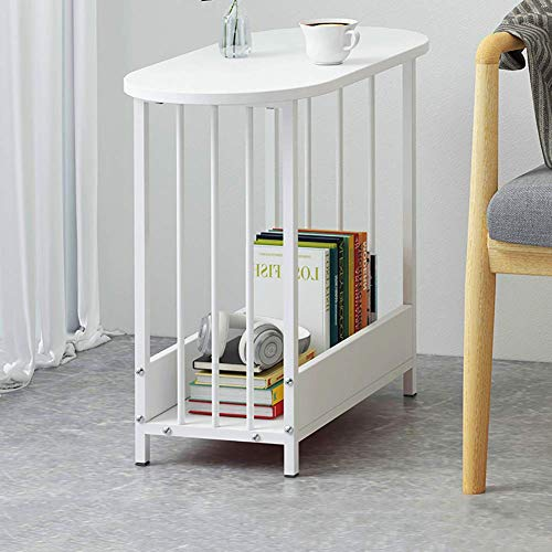 Industrial Bedside Table Side Table,Slim Wood Nightstand Bedside Cabinet End Table,Narrow Space Saving In Living Room Bedroom,Sturdy