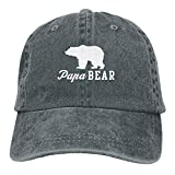 Presock Men's Vintage Dad Cowboy Hat Adjustable Baseball Cap - Papa Bear