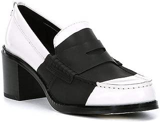 Calvin Klein Women's Pamelyn Loafer Pump, White/Black, 6 M