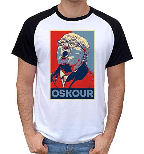 Artist Deluxe T-Shirt Fun Bi-Colore - Jean Marie Le Pen Propagande OSKOUR