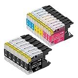 B-T Compatible Cartuchos de Tinta Reemplazo para Brother LC1240 LC1280 XL para Brother MFC J5910DW J625DW J430W J6510DW J6710DW J825DW MFC-J5910DW Impresoras (22 Pack)