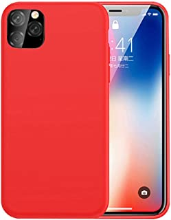 For iPhone 11 Pro Case(5.8), Silicone Material Shockproof Anti-Scratched Rugged Cover for Women Girls, Red (2019)